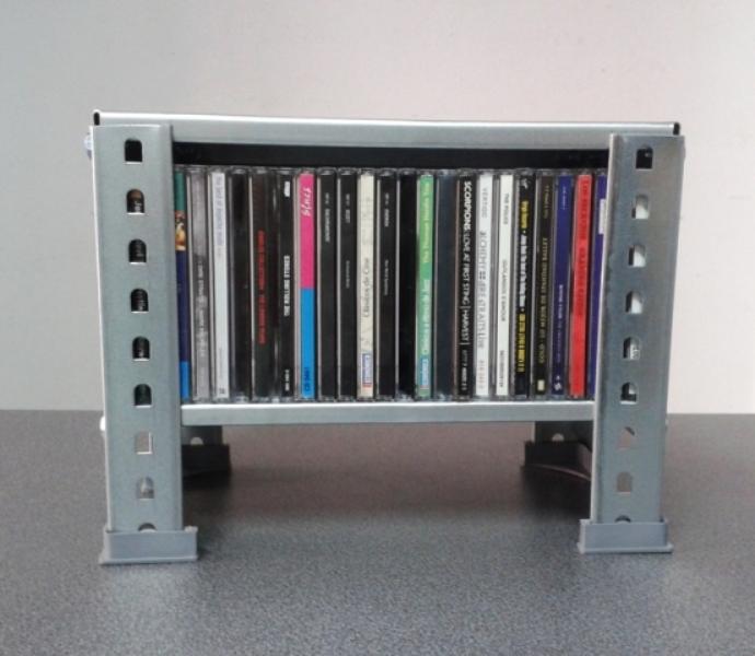 canto fino estanterias metalicas estrechas para cd y para dvd