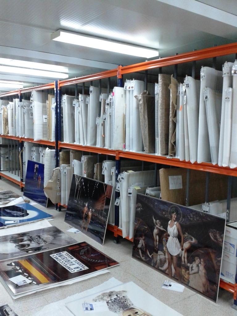 Estanterias metalicas para fondos de arte y cuadros - Estanterias para trastero ...
