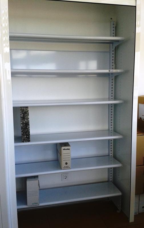 Estanterias metalicas para material de oficina - Estanterias metalicas blancas ...