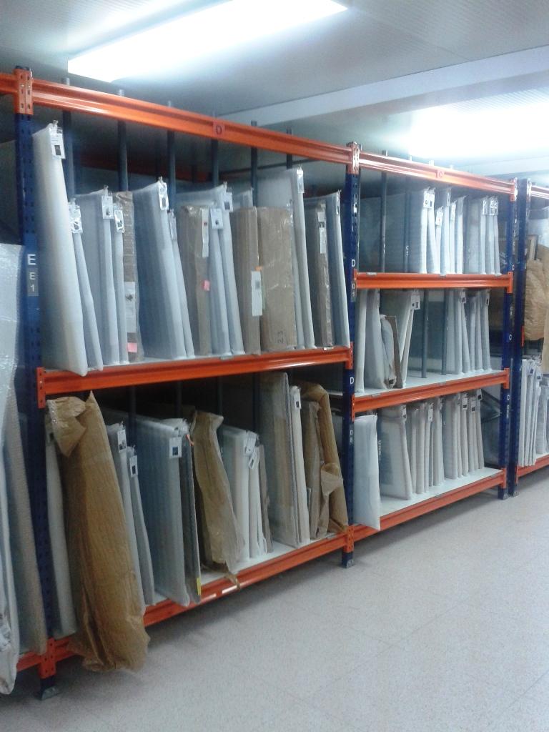 Estanterias metalicas para fondos de arte y cuadros | estanterias ...
